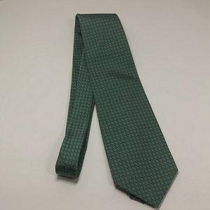 Ralph Lauren Green With Blue Geometric Pattern Tie